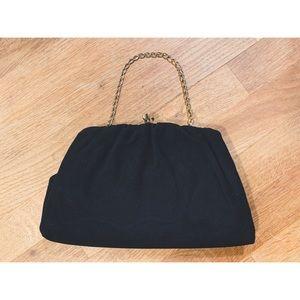 Vtg 60's Black Handbag